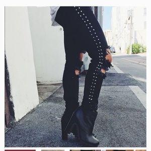 Carmar Studded Distressed Denim Jeans Size 25